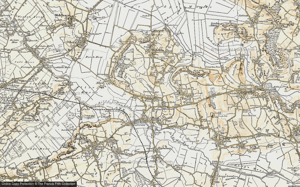 Old Map of Wearne, 1898-1900 in 1898-1900