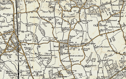 Old map of Weatherhill in 1898-1902
