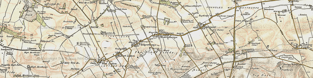 Old map of Weaverthorpe in 1903-1904