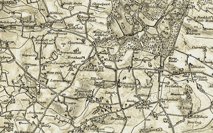 Old map of Tillyhilt in 1909-1910