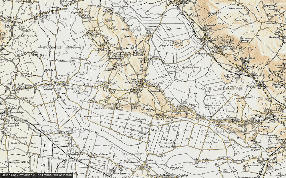 Old Map of Historic Map covering Lascot Hill in 1899-1900