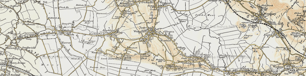 Old map of Wedmore in 1899-1900