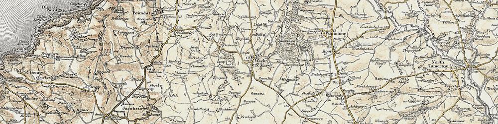 Old map of Westcott in 1900