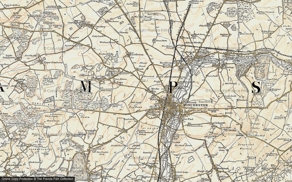 Old Map of Weeke, 1897-1900 in 1897-1900