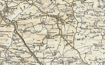 Old map of Woodgate in 1899-1900