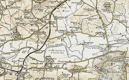 Old map of Arthington Pastures in 1903-1904