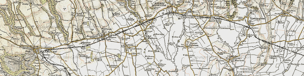 Old map of Tilehouse Br in 1903-1904