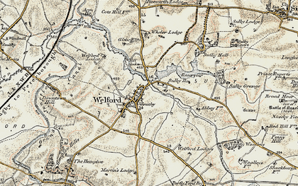 Old map of Wheler Lodge in 1901-1902
