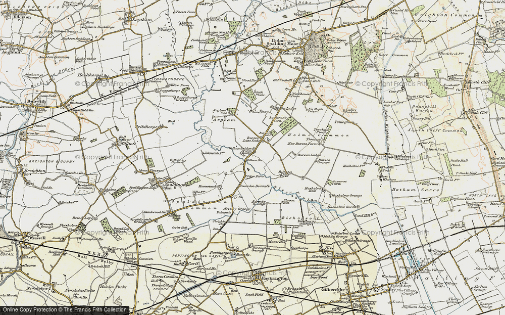 Old Map of Historic Map covering Yokegate in 1903