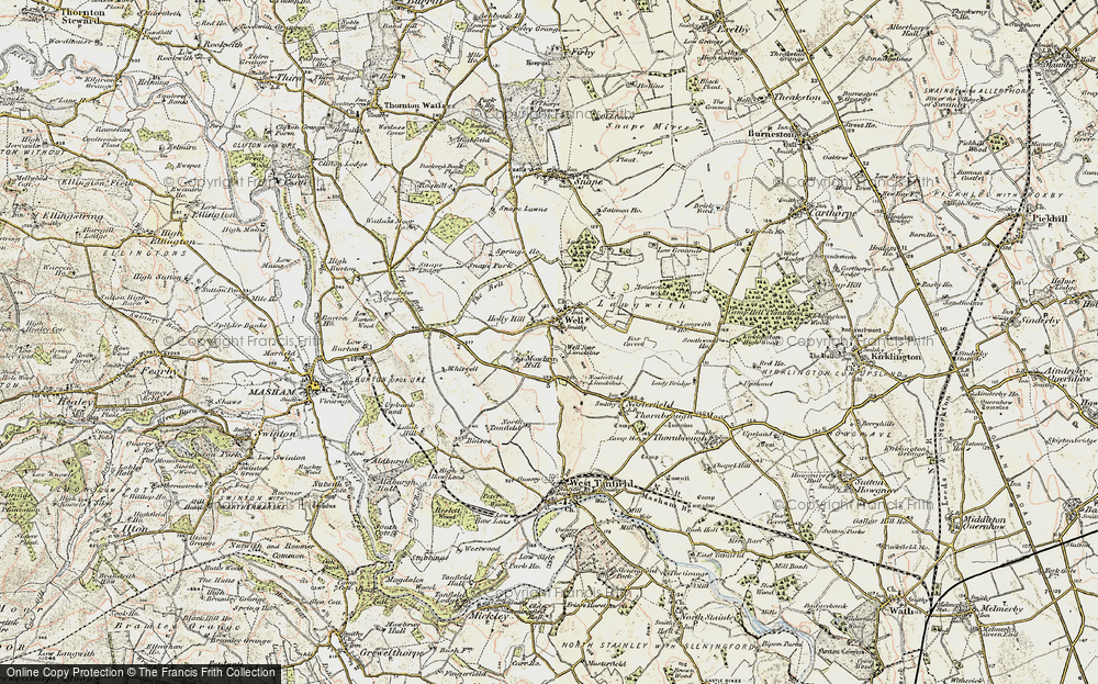 Old Map of Historic Map covering Langwith in 1903-1904