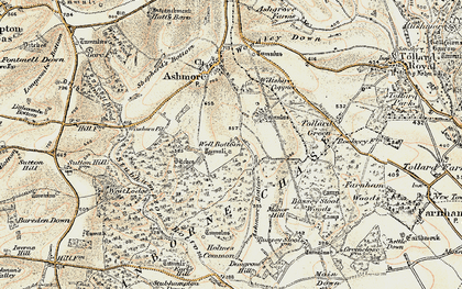 Old map of Ashmore Wood in 1897-1909