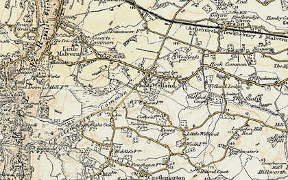 Old map of Welland in 1899-1901
