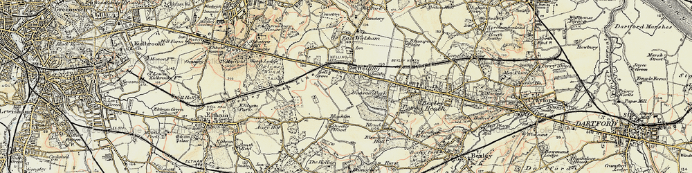 Old map of Welling in 1897-1902