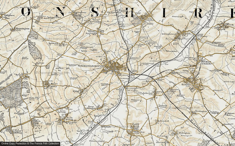 Old Map of Wellingborough, 1901 in 1901