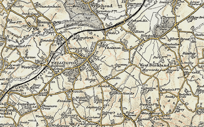 Old map of Wellington in 1898-1900