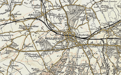 Old map of Wellington in 1902