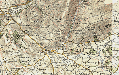 Old map of Whin Garth in 1903-1904