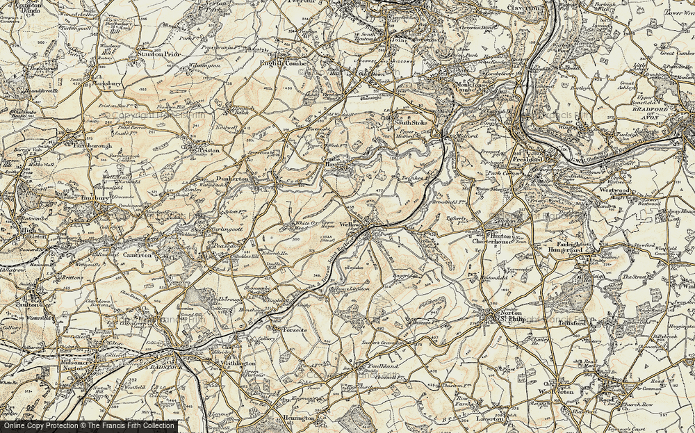 Old Map of Wellow, 1898-1899 in 1898-1899