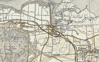 Old map of Wells-Next-The-Sea in 1901-1902