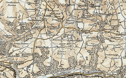 Old map of Welltown in 1900