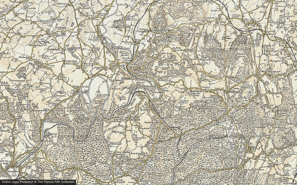 Old Map of Welsh Bicknor, 1899-1900 in 1899-1900