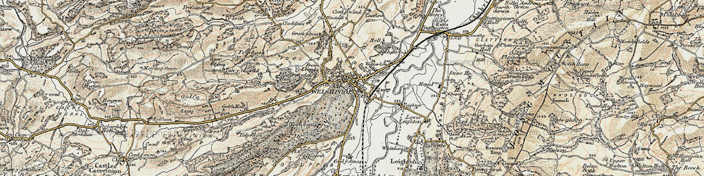 Old map of Welshpool in 1902-1903