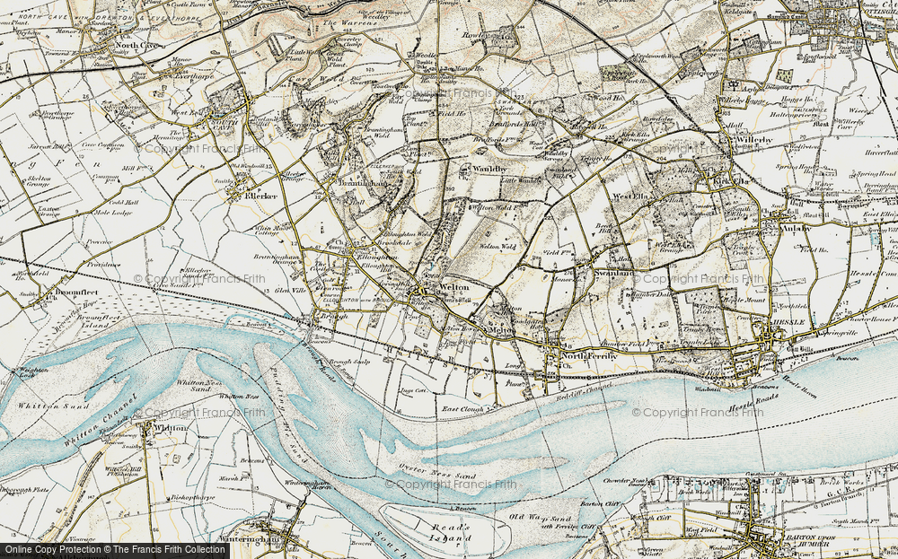 Old Map of Welton, 1903-1908 in 1903-1908