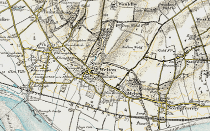 Old map of Welton in 1903-1908
