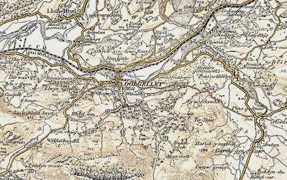 Old map of Afon Arran in 1902-1903