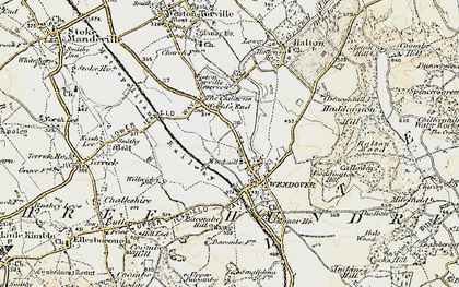 Old map of Wendover in 1898