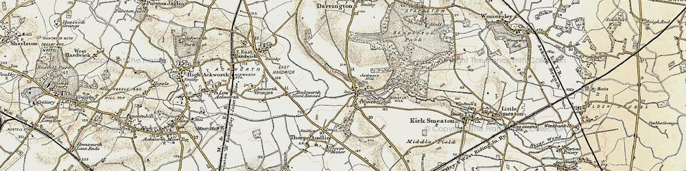 Old map of Wentbridge in 1903