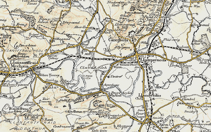 Old map of Aber Tanat in 1902-1903