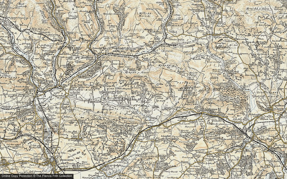 Old Map of Wern Tarw, 1899-1900 in 1899-1900
