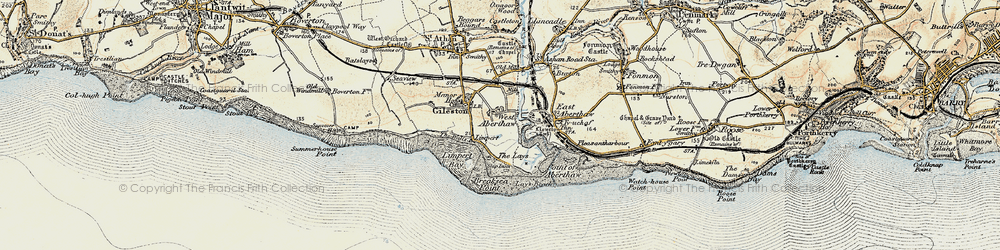 Old map of West Aberthaw in 1899-1900