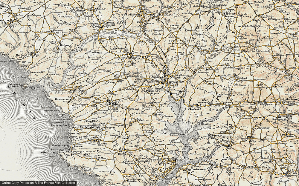 Old Map of Historic Map covering Auton in 1899