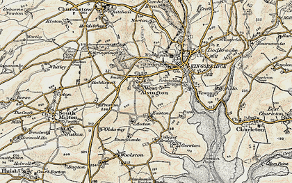 Old map of Youngcombe in 1899