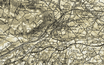 Old map of Levern Water in 1905