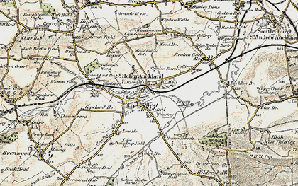 Old map of West Auckland in 1903-1904