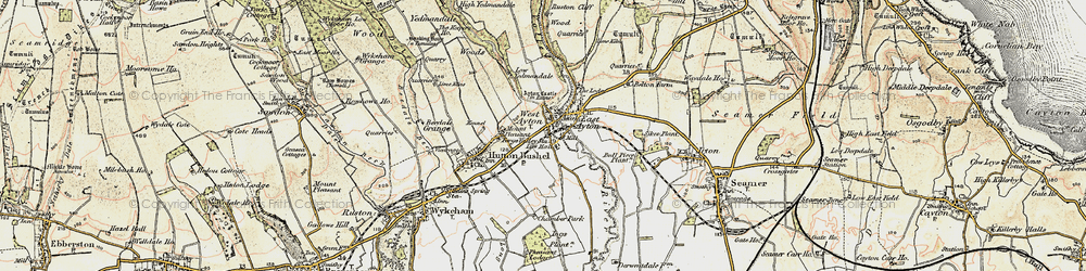 Old map of West Ayton in 1903-1904