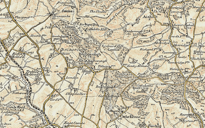 Old map of West Bagborough in 1898-1900