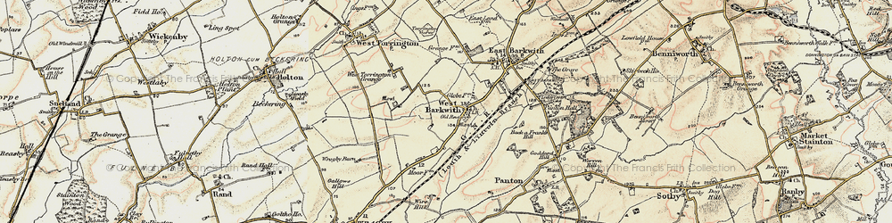 Old map of West Torrington Grange in 1902-1903