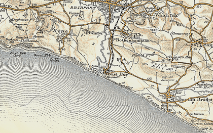 Old map of West Bay in 1899