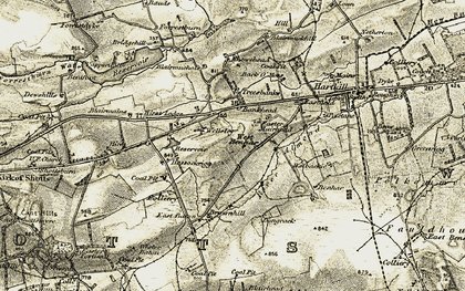 Old map of Wester Hassockrigg in 1904-1905