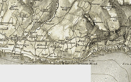 Old map of Aucheleffan in 1905-1906