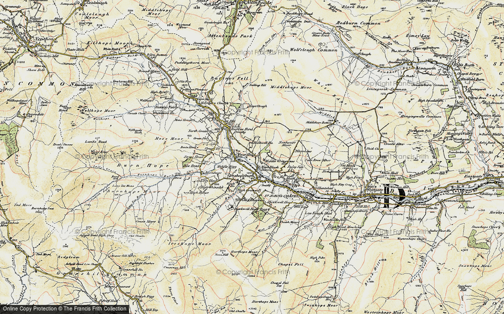 Old Map of West Blackdene, 1901-1904 in 1901-1904