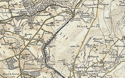 Old map of Wheal Betsy in 1899-1900