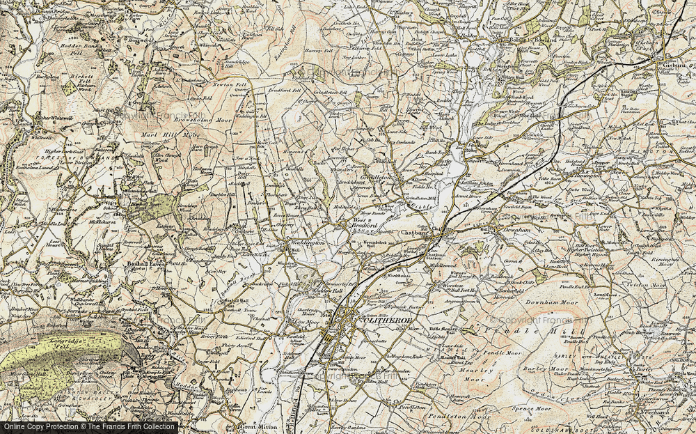 Old Map of West Bradford, 1903-1904 in 1903-1904