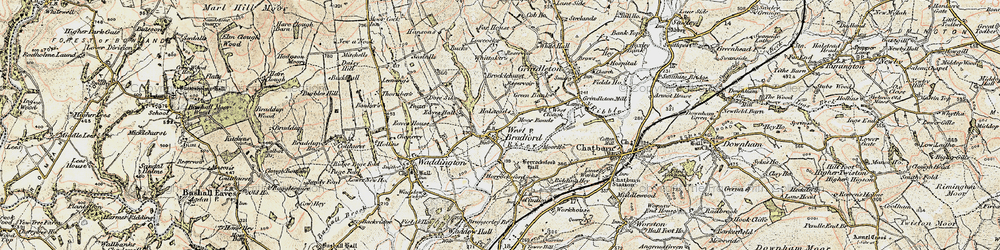 Old map of Whittakers in 1903-1904