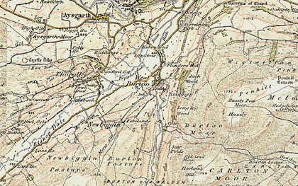 Old map of West Burton in 1903-1904