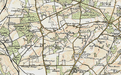Old map of Wheatley Grange in 1901-1904
